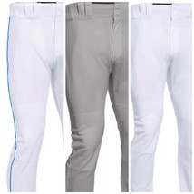 Baseball Under Armour Pant Pro Style Open Bottom Gray White Navy Pipe Men Youth - $18.99