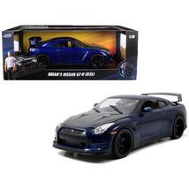 Brians Nissan GTR R35 Blue Fast & Furious 7 Movie 1/18 Diecast Model Car... - $57.37