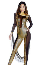 Forplay Call Me Cleo Goddess Metallic Gold Cleopatra Jumpsuit Costume - $48.99