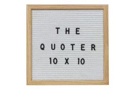 10X10 White Felt Letter Board With 346 Letters, Numbers, Emoji and Symbols. Incl - $44.99