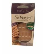 Nailene Fake Nails So Natural Short Everyday French Sheer Manicure set - $6.99