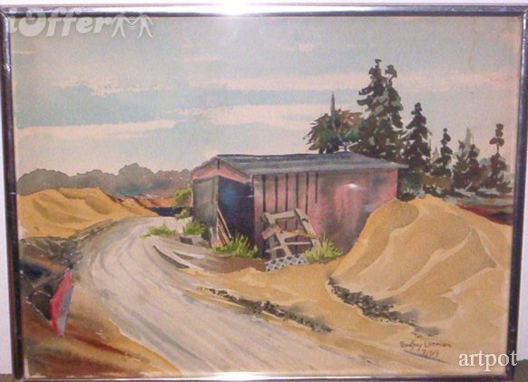 Primary image for COVERED BUILDING BY A ROAD BY GODFREY LEEMAN