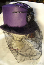Bethany Lowe Halloween Purple Top Hat with Spider no. LO6459 image 3