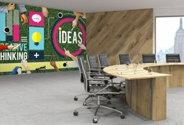 3D Color Pattern T31 Business Wallpaper Wall Mural Self-adhesive Commerc... - $13.67+