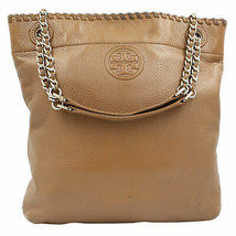 Tory Burch Tote Mcgraw Brown Leather Chain Shoulder Ladies Bag 41780 - $254.64