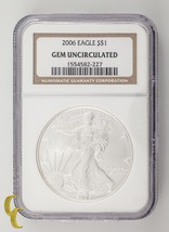 2006 Silver 1 oz American Eagle $1 NGC Graded Gem Uncirculated - $39.59