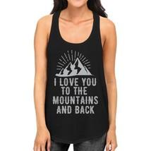 Mountain And Back Women's Black Cotton Tanks Cute Gifts For Couples - $14.99+
