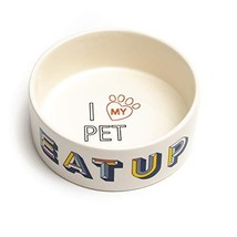 Park Life Designs Large Pet Bowl, Retro Pattern, 8-1/2 inch Heavyweight ... - $16.60