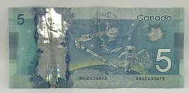 Canadian 2013 $5 M.Carney Changeover Note Serial # HBG0400873 - $14.50