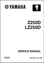 Yamaha Z225 LZ250 2-Stroke Outboard Motor Service Manual CD - Z250DETO LZ250DETO - $12.99