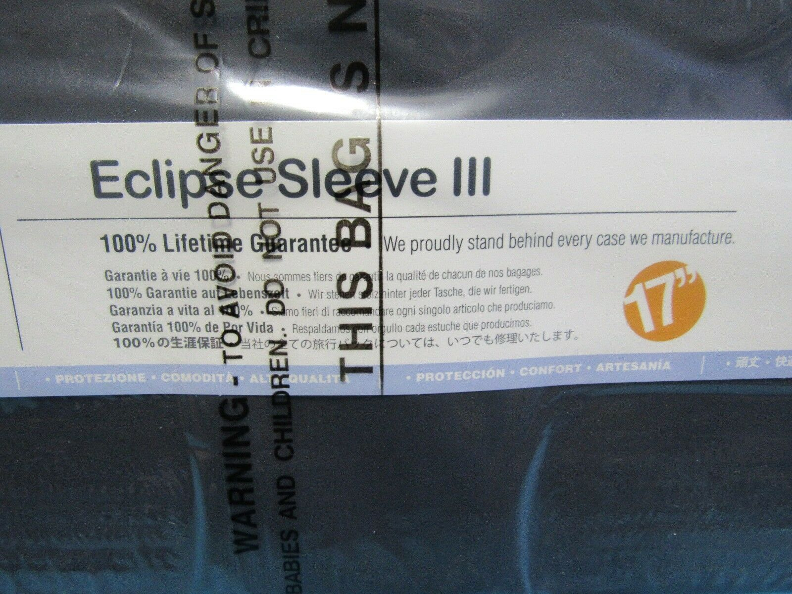 "Brenthaven Eclipse Sleeve III 17"" Laptop Lifetime Guarantee Craftsmanship"