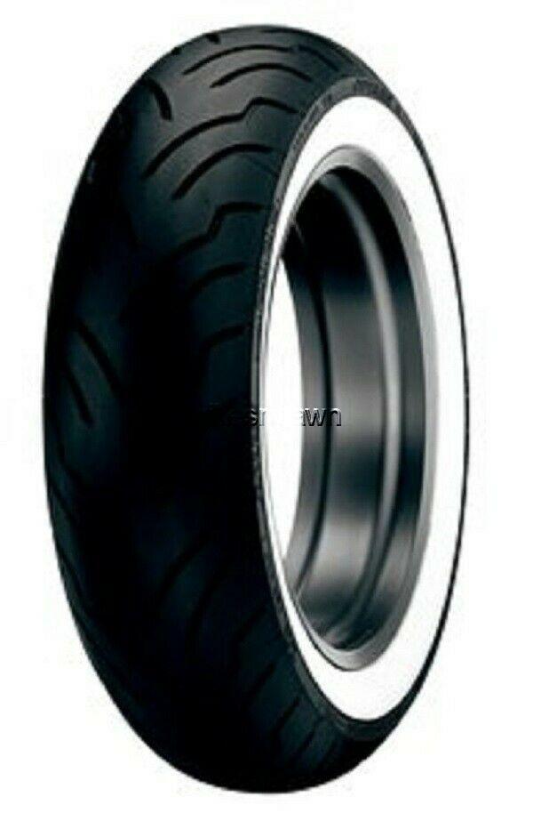 New Dunlop American Elite WWW Wide Whitewall 130/90B-16 Rear Tire 73H Tubeless