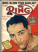 RING MAGAZINE-3/1954-BOXING-OLSON-GAVILAN-CHARLES!!! VG - $43.46
