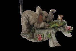 San Francisco Music Box Elephant Chasing Rat Plays You've Got A Friend V... - $19.75