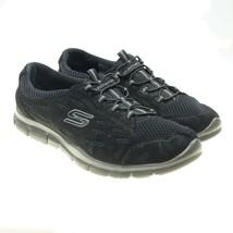 Skechers Sport Memory Foam Black Slip-ons Gratis Bungee Fashion Sneakers... - $24.74