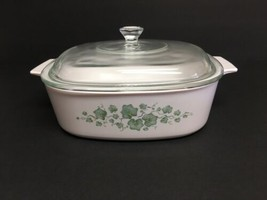 Corning Ware Callaway Ivy 2 Liter square covered casserole dish w/ lid - $23.36