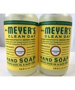 2 Mrs Meyers Hand Wash Soaps Honeysuckle Pump Bottle Clear Gel Liquid 25... - $15.83