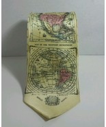 Geography Men's Tie with old world maps Museum Artifacts Hand Made 100 %... - $23.50