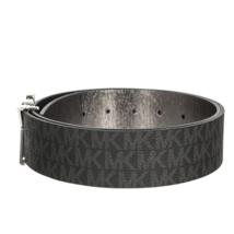 Michael Kors Women's Premium MK Logo Signature Plaque Faux Leather Belt 553504 image 5