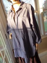 Plus Size Denim Shirt Womens Plus Sz 2 X 2T  Long Sleeves Blouse - $16.50
