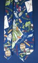 NICOLE MILLER 1994 SILK Men's TIE WINE of ITALY CALIFORNIA AUSTRALIA NEW... - $9.49