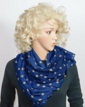 Wear Freedom Blu Sciarpa con Marroncino a Pois Sciarpe Scialle Stola