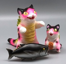 Max Toy Hot Pink Spotted Negora and Micro Negora w/ Fish - Rare image 3
