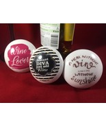 Funny Quotes Wine Bottle Stopper Wood Cork Wedding Holiday Gifts For Fri... - $10.88