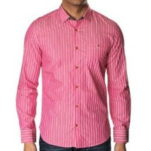 TED BAKER London NIPANI Long Sleeve BRIGHT SATIN Stripe DRESS SHIRT 3 $180 - $139.97
