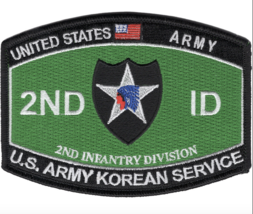 "4.5"" Army Mos 2ND Infantry Division Koren Service Embroidered Patch - $17.09"