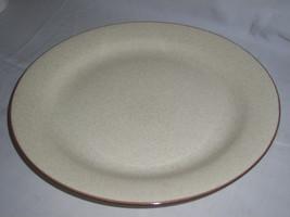 "Mikasa Style Manor Round Platter Chop Plate Brown Trim 12 1/4""D Excellen... - $11.91"