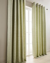 WOVEN SAGE GREEN FULLY LINED RING TOP CURTAINS - *8 SIZES* - $35.14+