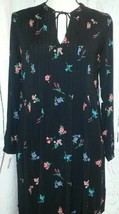 Old Navy Womens Black Floral Long Sleeve Dress Size XS/TP - $6.50
