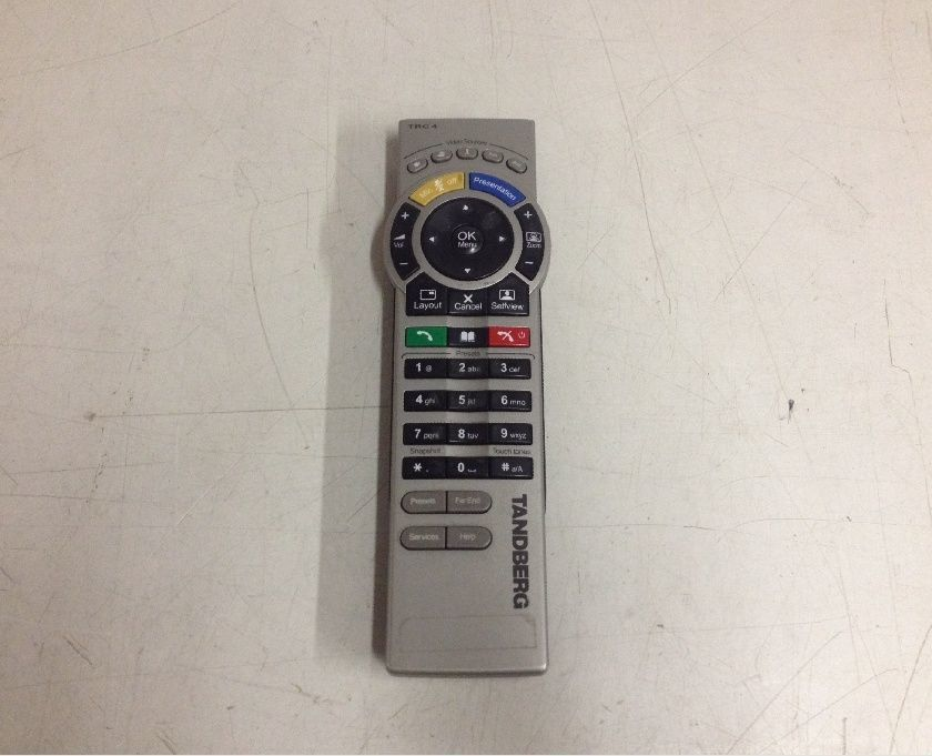 Tandberg TRC-4 Video Conferencing Remote Control No Infrared Faceplate