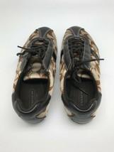 Coach Signature Brown Multicolor Casual Flat Women Shoes Size 5 - $39.59