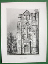 SCOTLAND Kelso Abbey North Trnsept !! Antique Print Engraving - $10.80