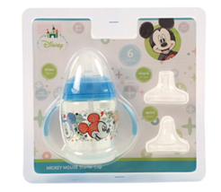Disney Mickey Mouse Infant Baby Toddler 6 Piece Grow with Me Sippy Cup - $9.75