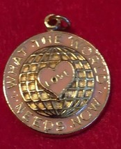 Vintage 1980 MARY KAY Award  Pendant What The World Needs Now  Love - £9.69 GBP