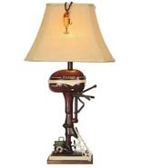 Vintage Style Fishing Boat Outboard Motor Table Lamp Nautical Lake Rusti... - $124.00