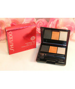 New Shiseido Luminizing Satin Eye Color Trio OR302 .1oz 3g Grey Orange H... - $22.99