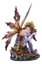 "Ebros Wild Traveler Autumn Tribal Acorn Fairy Garden Statue 6.5"" Tall Fa... - $32.95"