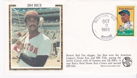 JIM RICE A.L. HR and RBI LEADER EVENT COVER - $1.78