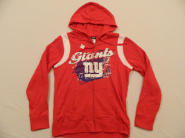 M97 New Women's Reebok New York Giants Red Sweatshirt Hoodie Hooded Jack... - €20,13 EUR