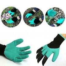 Garden Gloves with Built In Claws For Digging Planting Nursery Plants Ra... - $7.91
