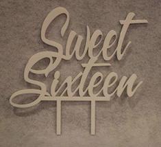 Sweet Sixteen Birthday Cake Topper (White) - €12,77 EUR