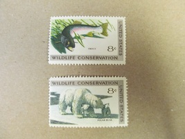Wildlife Conservation 8 cent 2 Stamps Scott# 1427-30 - 1971 Lot 5 - $1.00