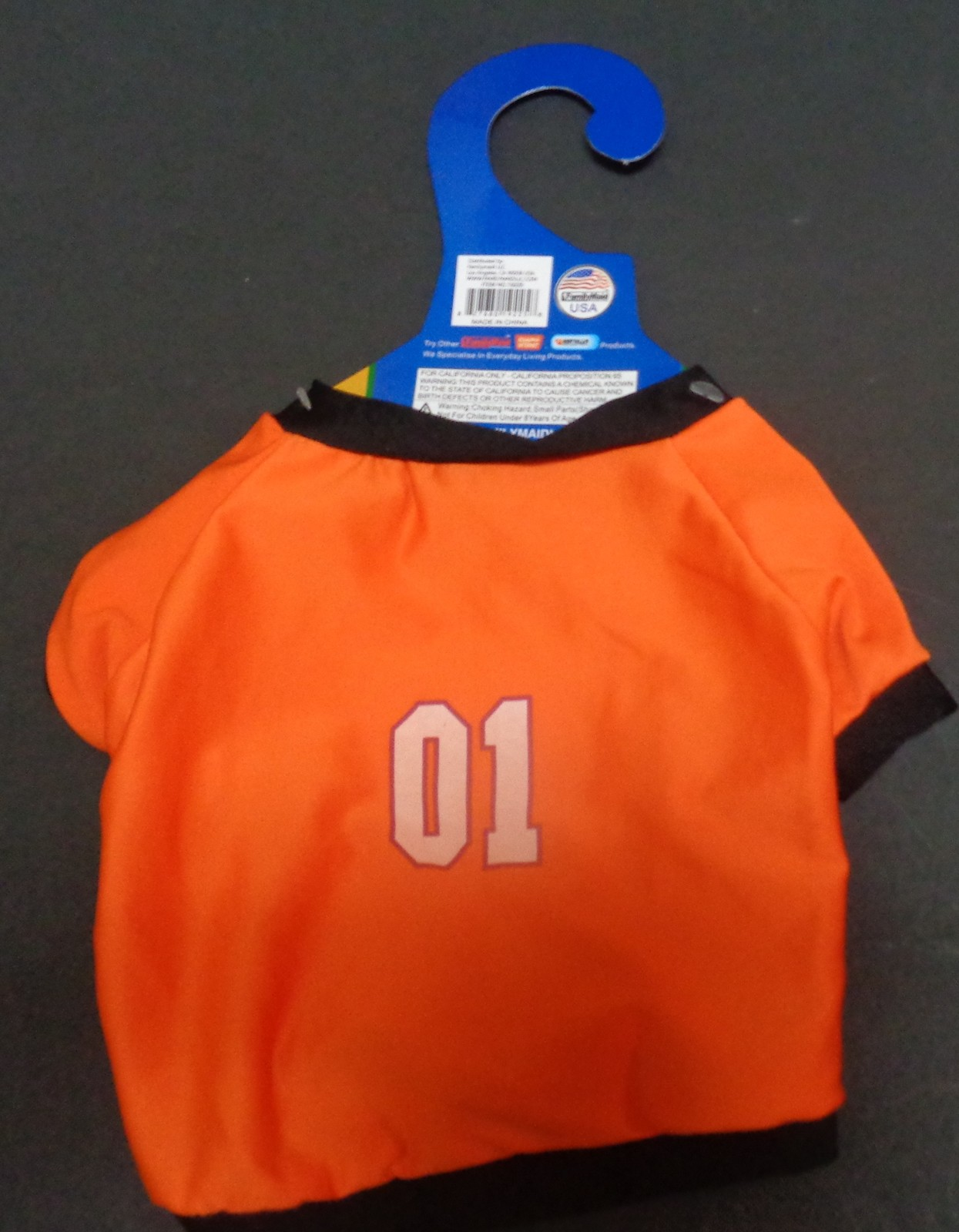 Neon Orange Doggy Shirt NWT Small Dog Number One Free Shipping