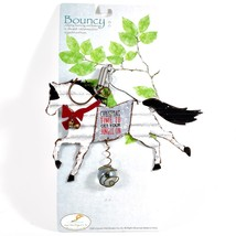 """""""Christmas Time to Get Your Jingle On"""" Holiday Horse Bouncy Garden Hanging Sign image 2"""