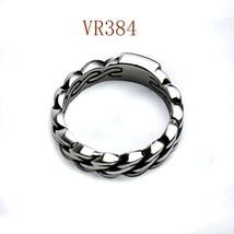 New Design Fashion Ben Chain Ring For Women Men Stainless Steel Biker Ri... - $51.73