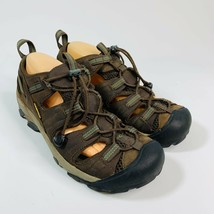 KEEN Newport H2 Men's 9 Brown Leather Hiking Trail Sandals Elastic Lace ... - $46.46